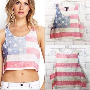 1f18234b977b Women s American Flag Shirt Forever 21 on Poshmark